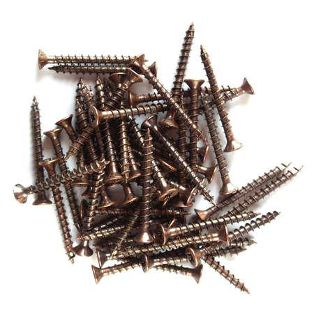 ferreteria: Detalle de tornillos bronce para las obras de madera
