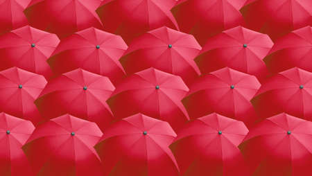 Many red umbrella useful as a background photo
