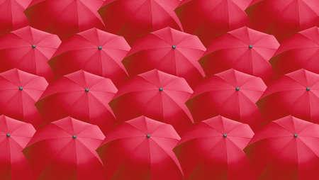 brolly: Muchos paraguas rojo �til como un fondo Foto de archivo
