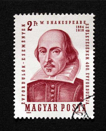 HUNGARY CIRCA 1964 - Shakespeare Stamp, Hungary, Circa 1964 Stock Photo - 5737196
