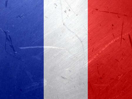 francais: Grunge illustration of the flag of France
