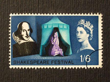 UK 1964 - Shakespeare Festival Stamp, United Kingdom, 1964 Stock Photo - 5765646