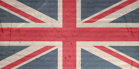 grunge union jack: Grunge illustration of the Union Jack flag of the UK