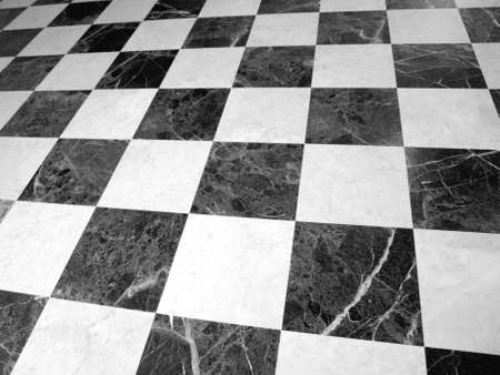 cladding tile: Black and white checked floor useful as a background