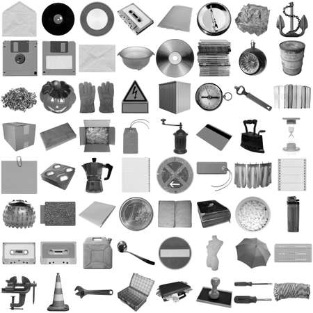 Many object isolated over a white background (all pictures in the collage are mine) photo