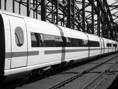 Detail of an high speed train