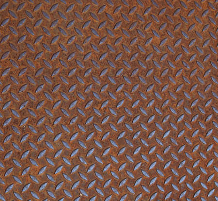 Rusted diamond steel plate useful as a background Stock Photo - 5890614