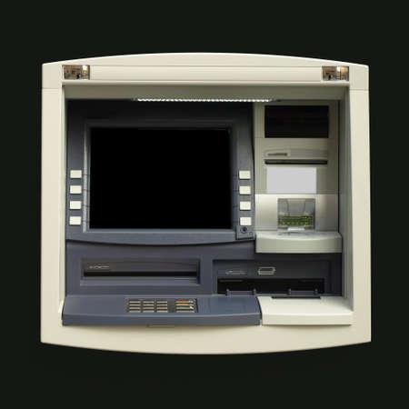 automatic teller machine: Cajero autom�tico (ATM) para retirada de efectivo en un Banco
