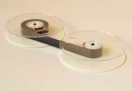 Magnetic tape reel for computer data and audio video storage Stock Photo - 5906406
