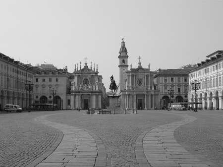Piazza San Carlo royal square in Turin (Torino), Italy