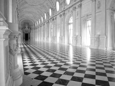 Galleria di Diana at Reggia di Venaria, near Turin Stock Photo
