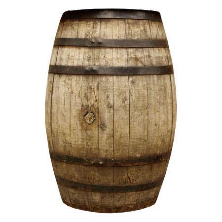 Foudre n° fûts en bois de vin ou de bière isolé sur blanc Banque d'images - 5918619