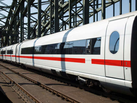Detail of a high speed train