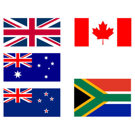 founding: Flags of the original founding members of Commonwealth
