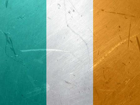 eire: Grunge illustration of the flag of Ireland