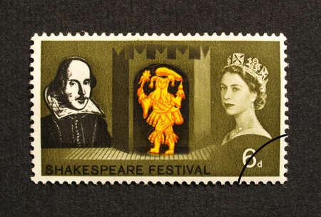 UK 1964 - Shakespeare Festival Stamp, United Kingdom, 1964 Stock Photo - 5966603