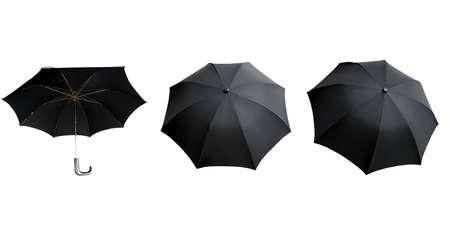 Black umbrella isolated over a white background photo