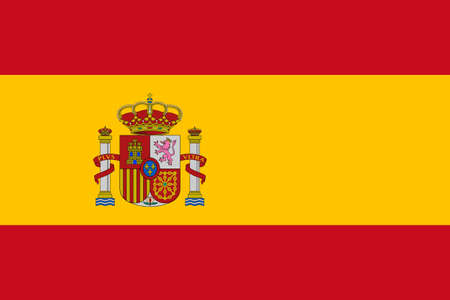 spain: The national flag of Spain Stock Photo