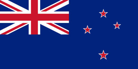 The national flag of New Zealand photo