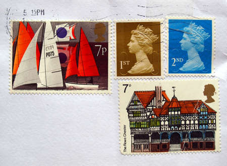British postage stamps from the United Kingdom (UK) Stock Photo - 6027836