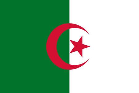 algeria: The national flag of Algeria Stock Photo