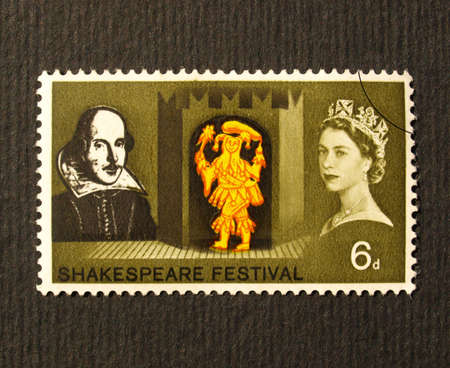 UK 1964 - Shakespeare Festival Stamp, United Kingdom, 1964 Stock Photo - 6044475