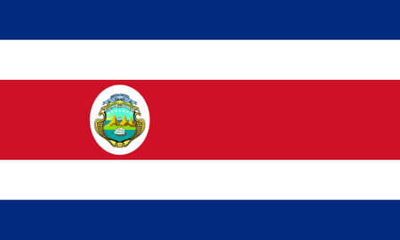 costa rica: The national flag of Costa Rica