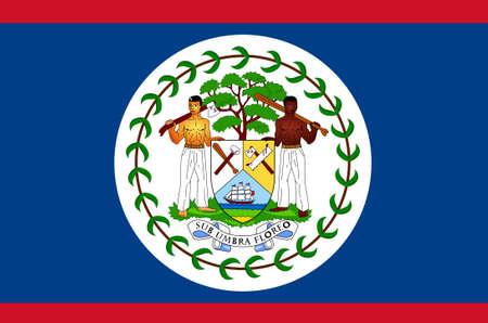 La bandera nacional de Belice  Foto de archivo - 6065781