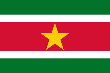 suriname: The national flag of Suriname Stockfoto