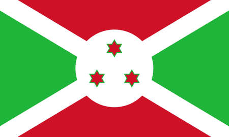 burundi: The national flag of Burundi Stock Photo