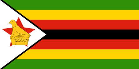 zimbabwe: The national flag of Zimbabwe