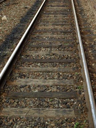 railtrack: Detail of Railway railroad tracks for trains