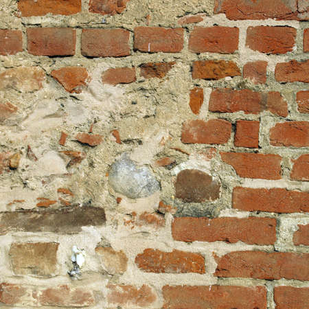 medioeval: Old brick wall useful as a background