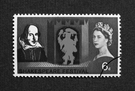 UK 1964 - Shakespeare Festival Stamp, United Kingdom, 1964 Stock Photo - 6136681
