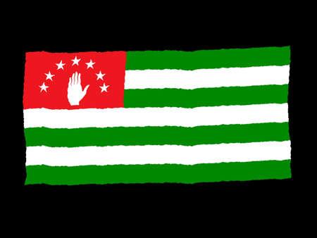 abkhazia: Handdrawn flag of Abkhazia