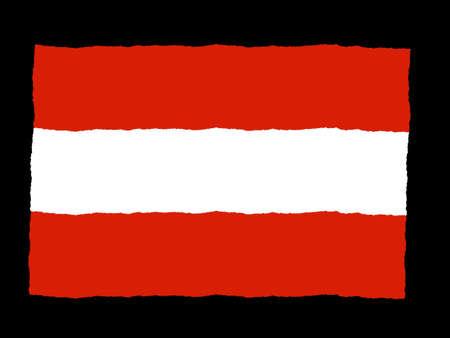 Handdrawn flag of Austria Stock Photo - 6180565