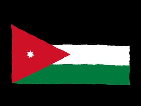 jordan: Handdrawn flag of Jordan Stock Photo