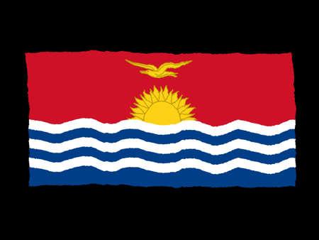 kiribati: Handdrawn flag of Kiribati Stock Photo