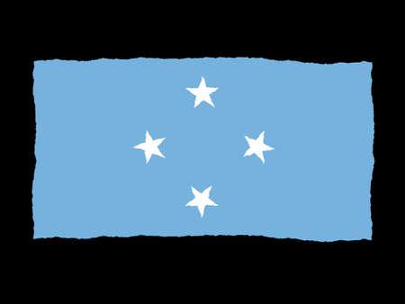 micronesia: Handdrawn flag of Micronesia