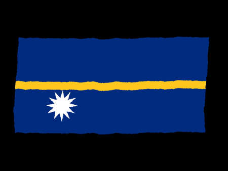 nauru: Handdrawn flag of Nauru