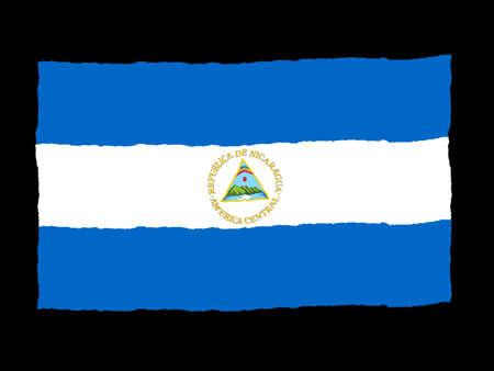 Handdrawn flag of Nicaragua photo