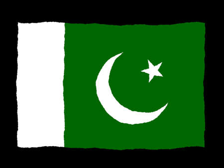 flag of pakistan: Handdrawn flag of Pakistan Stock Photo