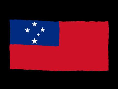 samoa: Handdrawn flag of Samoa