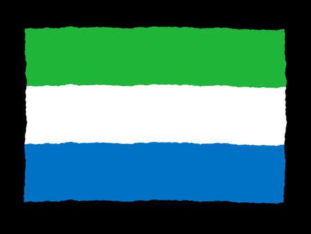 sierra: Handdrawn flag of Sierra Leone