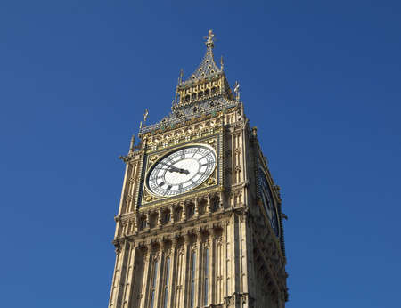 Big Ben, Houses of Parliament, Westminster Palace, London gothic architecture Stock Photo - 6321356