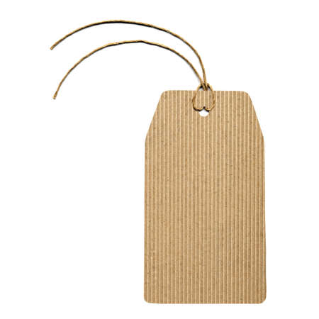 corrugated cardboard: A paper tag or label or sticker