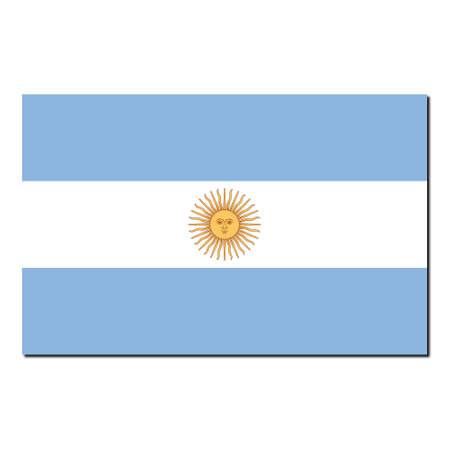 La bandera nacional de Argentina - con sombra sobre fondo blanco  Foto de archivo - 6321413