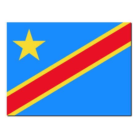 democratic republic of the congo: The national flag of Democratic Republic Congo - with shadow over white background