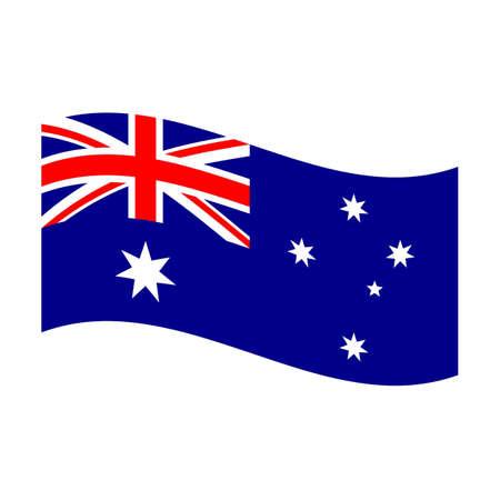 Illustration of the national flag of australia floating illustration