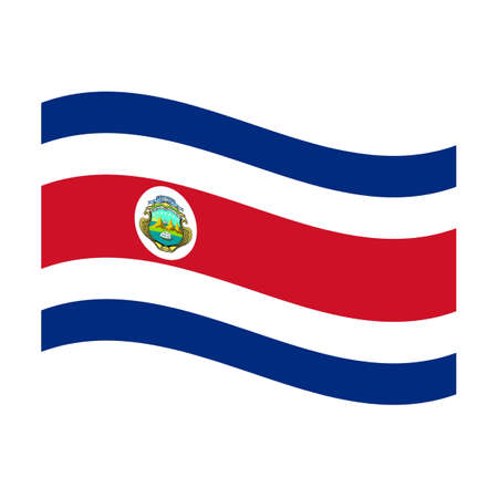 Illustration of the national flag of costa rica floating illustration